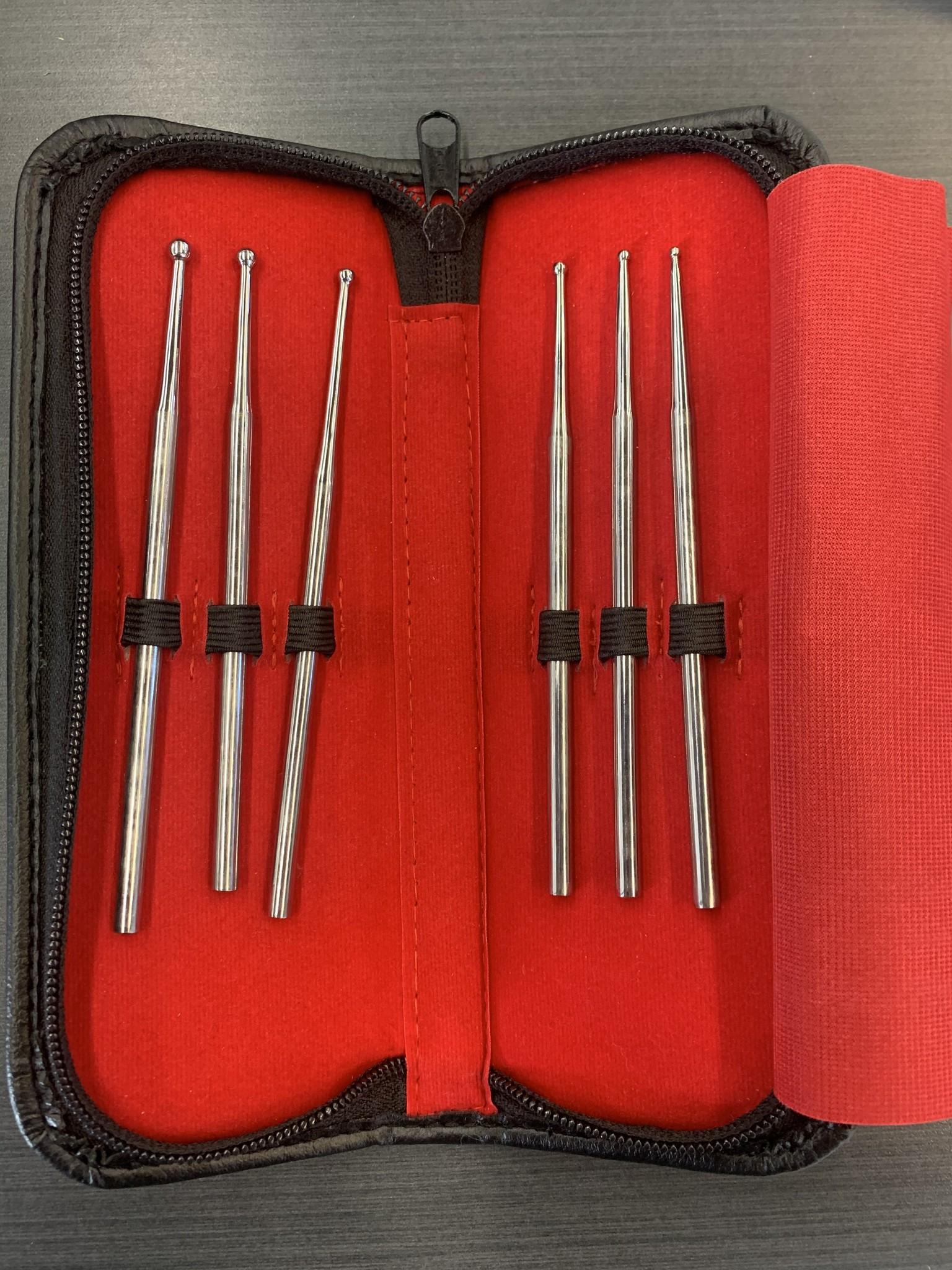 6 Piece Snake Probe Kit W/ Leather Case