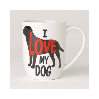 PetRageous PetRageouse  I Love My Dog Mug 24oz