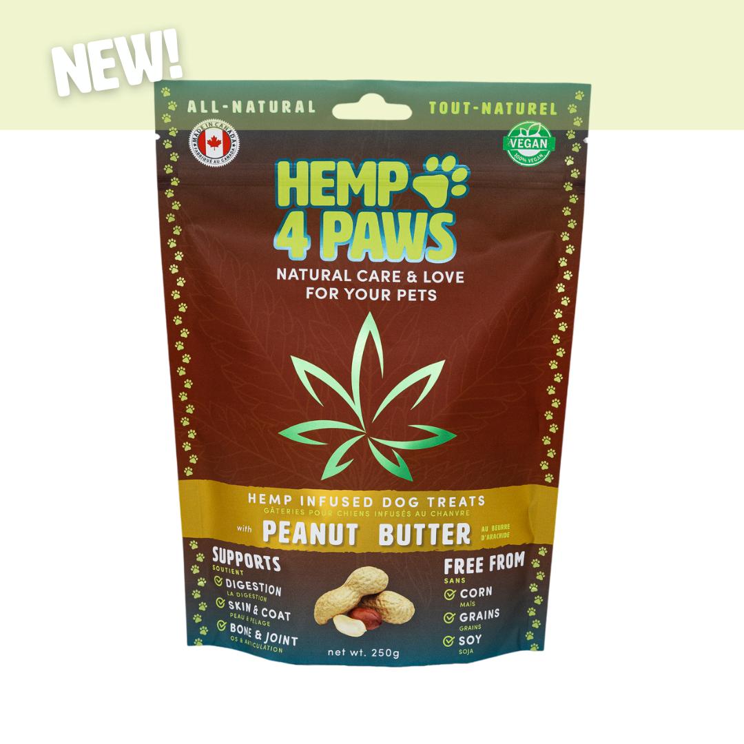 Hemp 4 Paws Hemp 4 Paws Hemp Infused Dog Treats Peanut Butter 250g