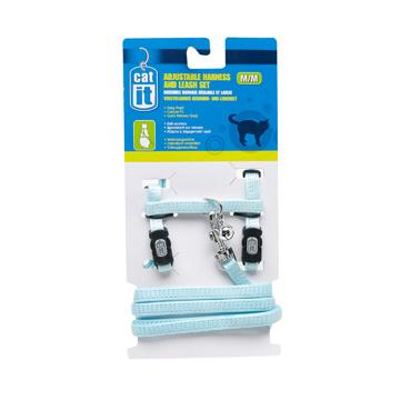 Cat It Catit Adjustable Nylon Cat Harness & Leash Set - Assorted Colours