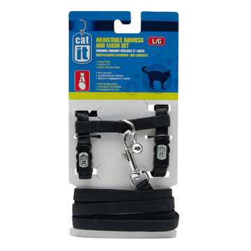 CatIt Catit Adjustable Nylon Cat Harness & Leash Set - Assorted Colours