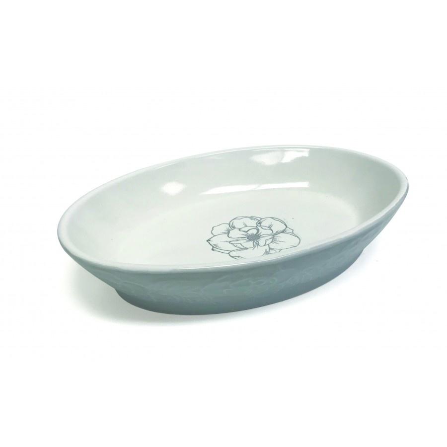 Pioneer Pet Products Pioneer Pet Ceramic Dish Oval Magnolias