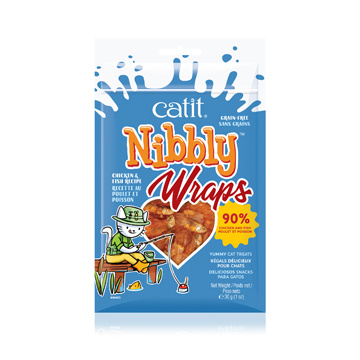 CatIt Catit Nibbly Wraps Chicken and Fish Recipe - 30 g (1 oz)