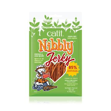 CatIt Catit Nibbly Jerky Chicken and Fish Recipe - 30 g (1 oz)