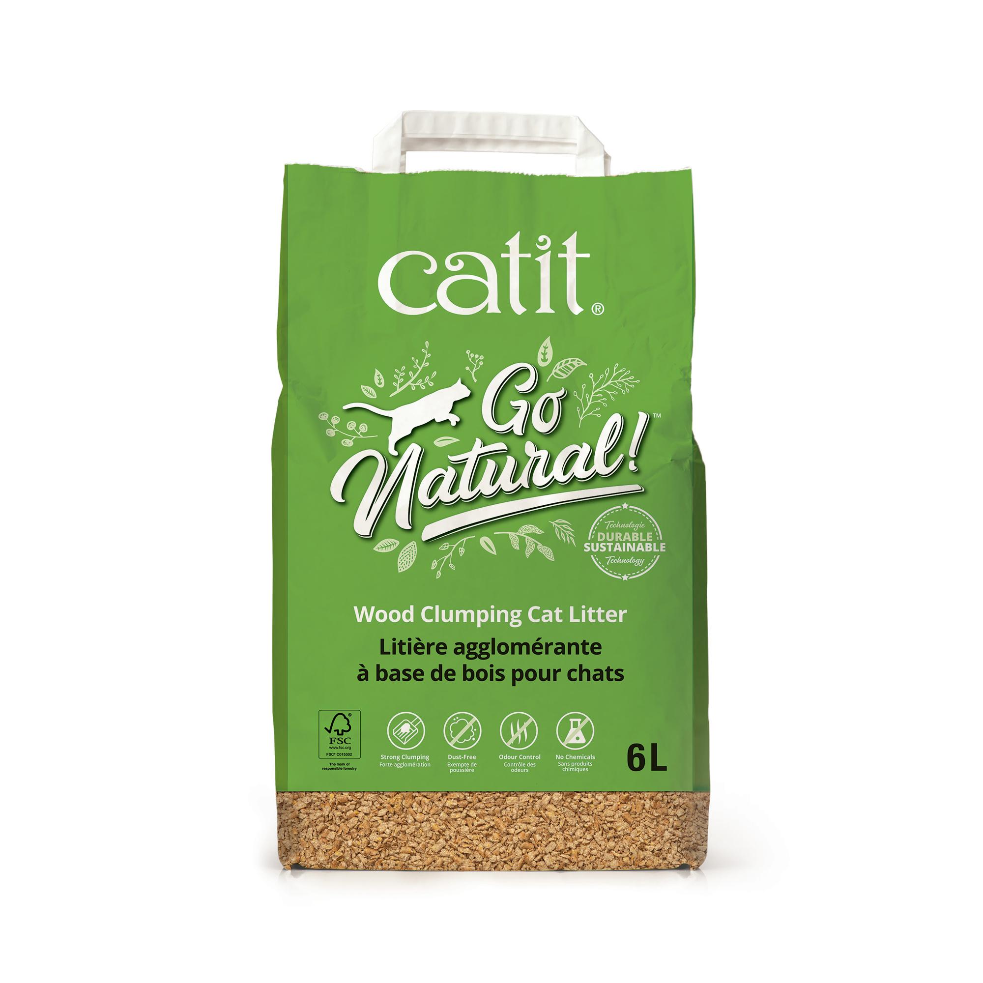 Cat It Catit Go Natural! Wood Clumping Cat Litter - 6 L bag