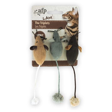 All For Paws All for Paws The Triplets, Assorted (Brown/Grey/Tan), 3 pack