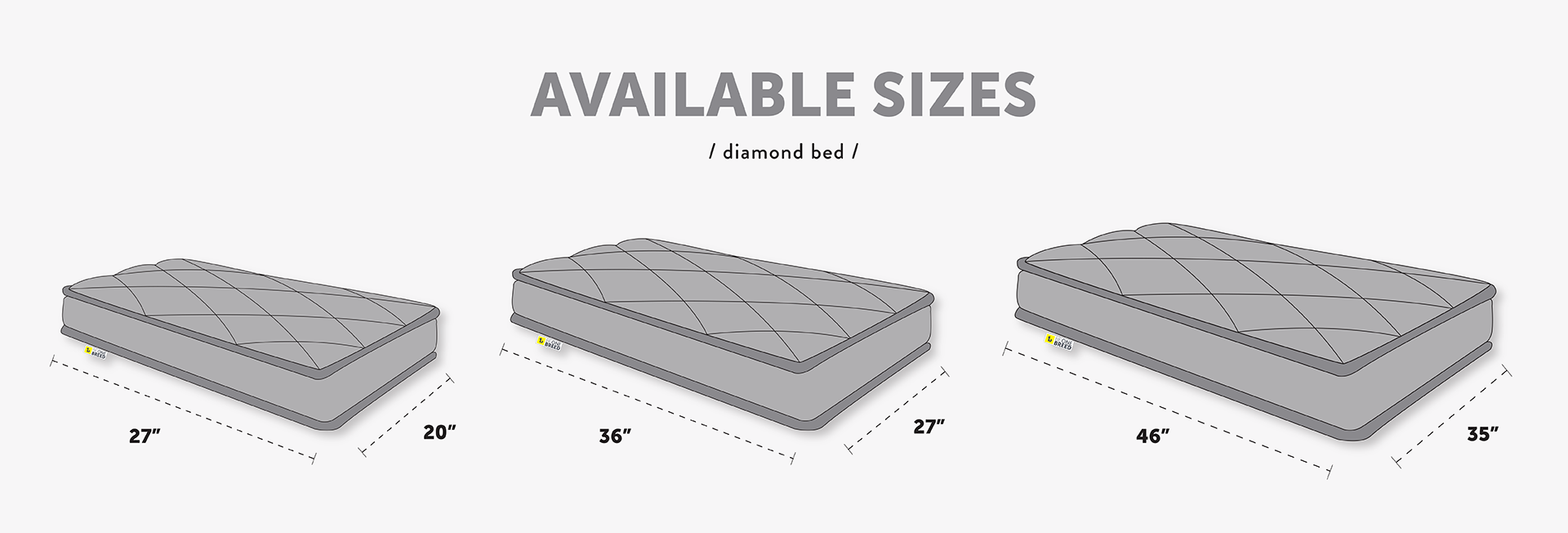 Be One Breed Be One Breed Diamond Bed Grey