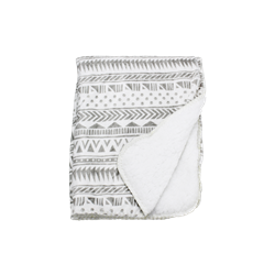 Be One Breed Be one Breed Aztec Soft Blanket Light Grey