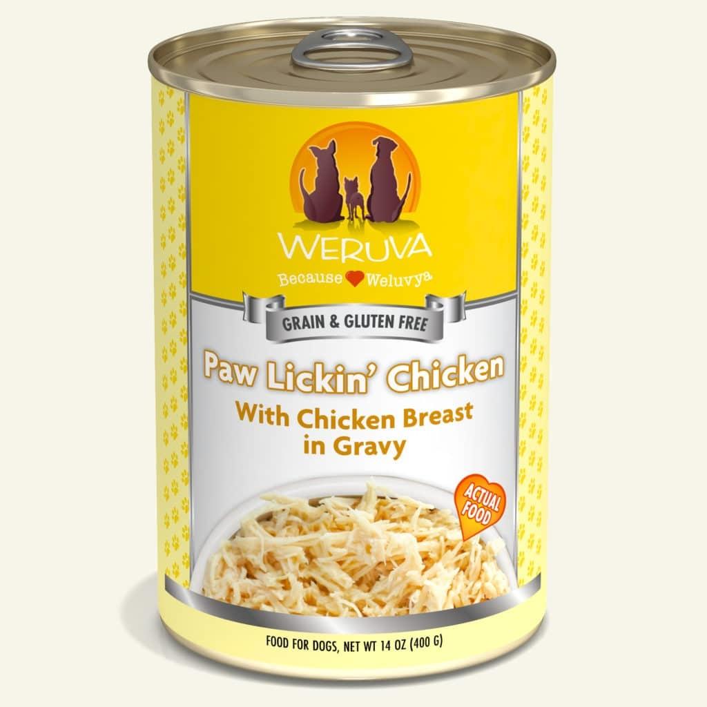 WeRuVa Weruva Dogs in the Kitchen Paw Lickin' Chicken With Chicken Breast in Gravey 14oz