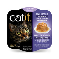 CatIt Catit Fish Dinner with Crab Flavor & Pumpkin - 80 g (2.8 oz
