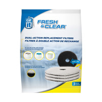 CatIt Cat It Fresh & Clear Dual-Action Replacement Filters 3pk