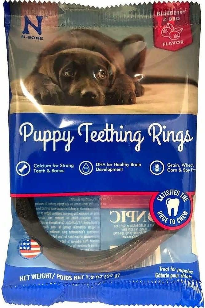 NPIC NPIC N-Bone Puppy Teething Ring Blueberry & BBQ Flavor Single