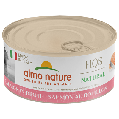 Almo Nature Almo Nature HQS Natural Made in Italy Salmon in Broth 70g