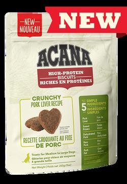 Acana Acana High Protein Biscuit Crunchy Pork Liver 9oz