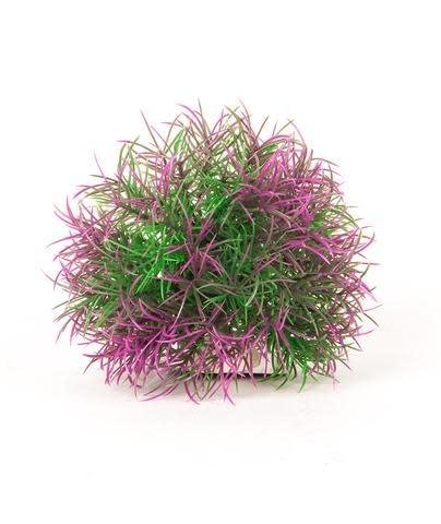 "Aquatop AQUATOP Artificial Plant Big Purple/Green Ball W/ Weighted Base 5"""