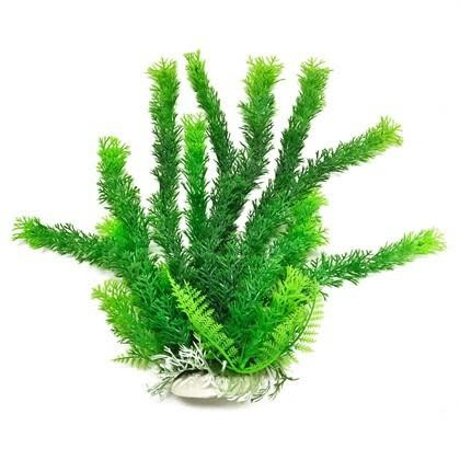 Aquatop AQUATOP Artificial Plant W/ Weighted Base -Cabomba-Like (Green)