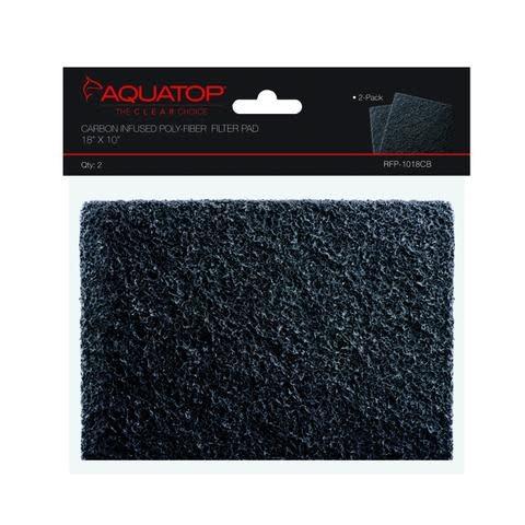 """Aquatop AQUATOP Cut To Fit Filter Pad 18"""" x 10""""-Carbon Infused Poly-fiber"""