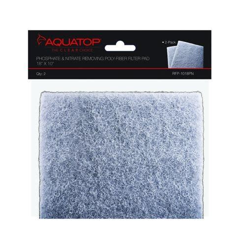 "Aquatop AQUATOP Cut To Fit Filter Pad 18"" x 10""-Phosphate & Nitrate Removing Poly-fiber"