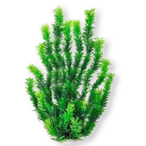 "Aquatop AQUATOP Large Artificial Plant W/ Weighted Base - Bushy Dark Green Plant 24"""