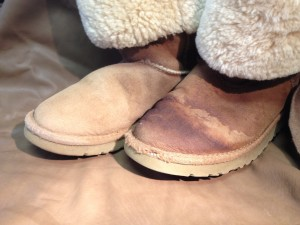 Badly stained ugg boots