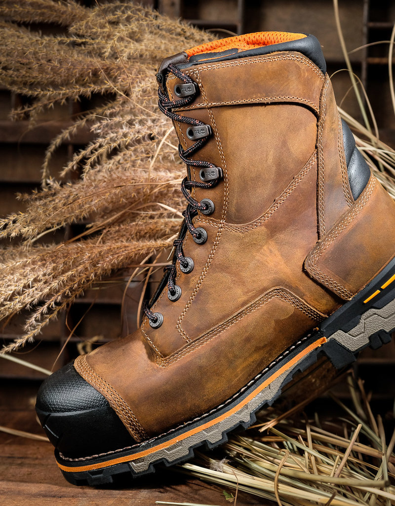 """Timberland Pro Boodock Men's 8"""" Composite Toe Work Boots 92671"""