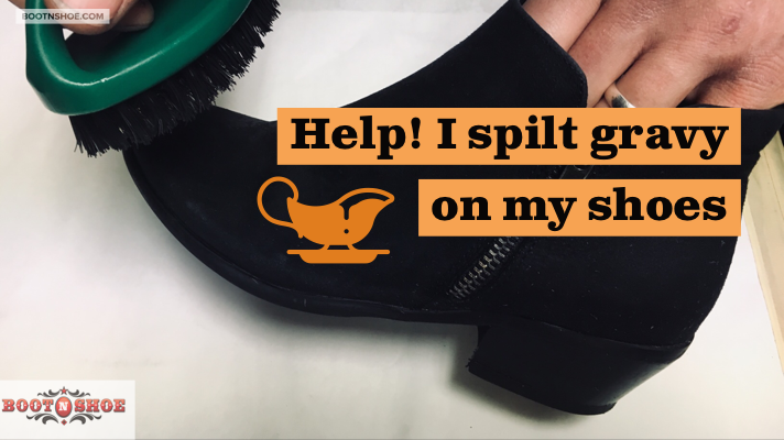 How Can I Get A Gravy Stain Out Of My Shoes Or Boots?