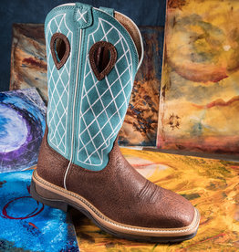 Twisted X Men's  Lite Cowboy Work Boot Turquoise/Distressed