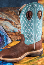 Twisted X Men's Lite Cowboy Work Boot Turquoise/Distressed MLCW021