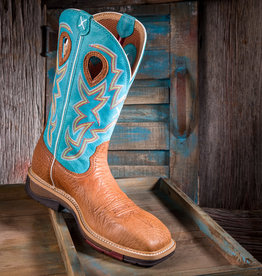 Twisted X Men's  Lite ST Cowboy Workboots Cognac/Turquoise