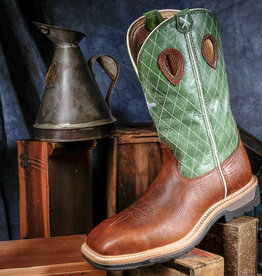 Twisted X Men's Lite Work ST Boot Cognac and Green