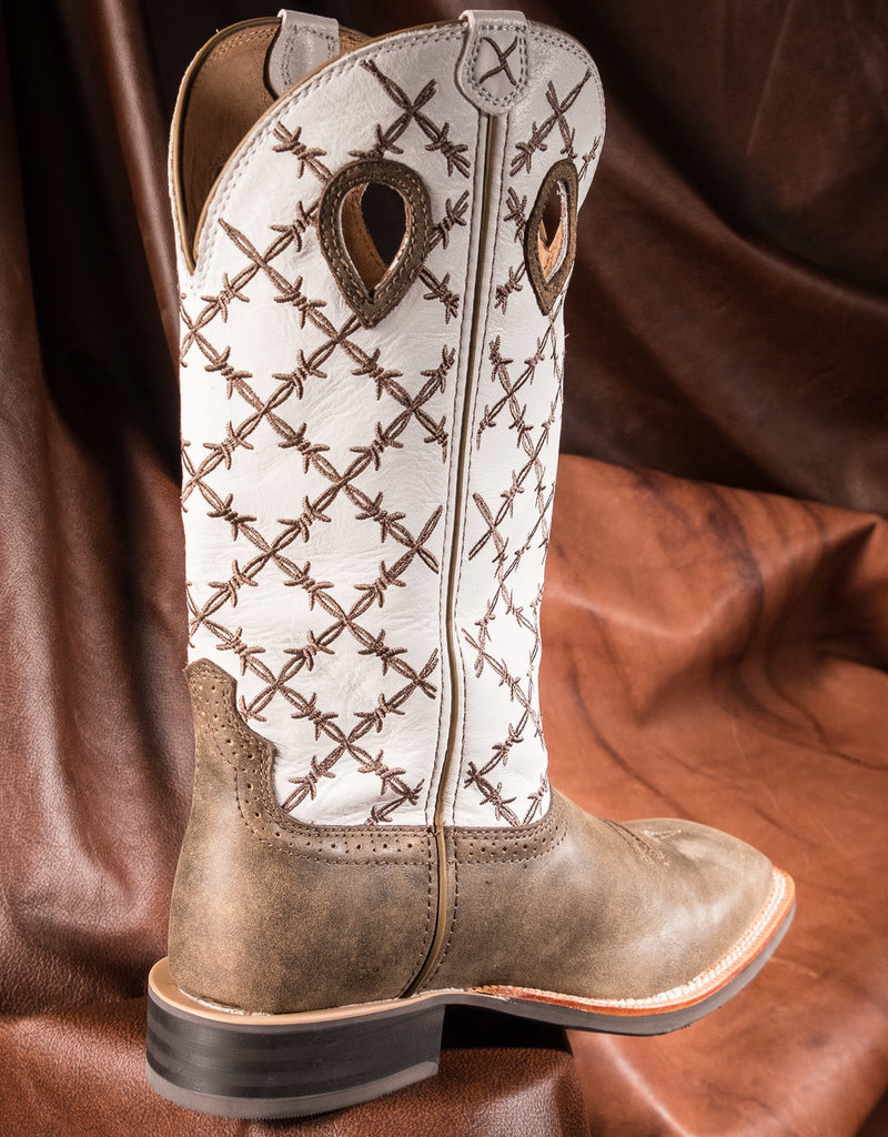 Twisted X Men's Ruff Stock Bomber/White Pull On Boot MRS0056