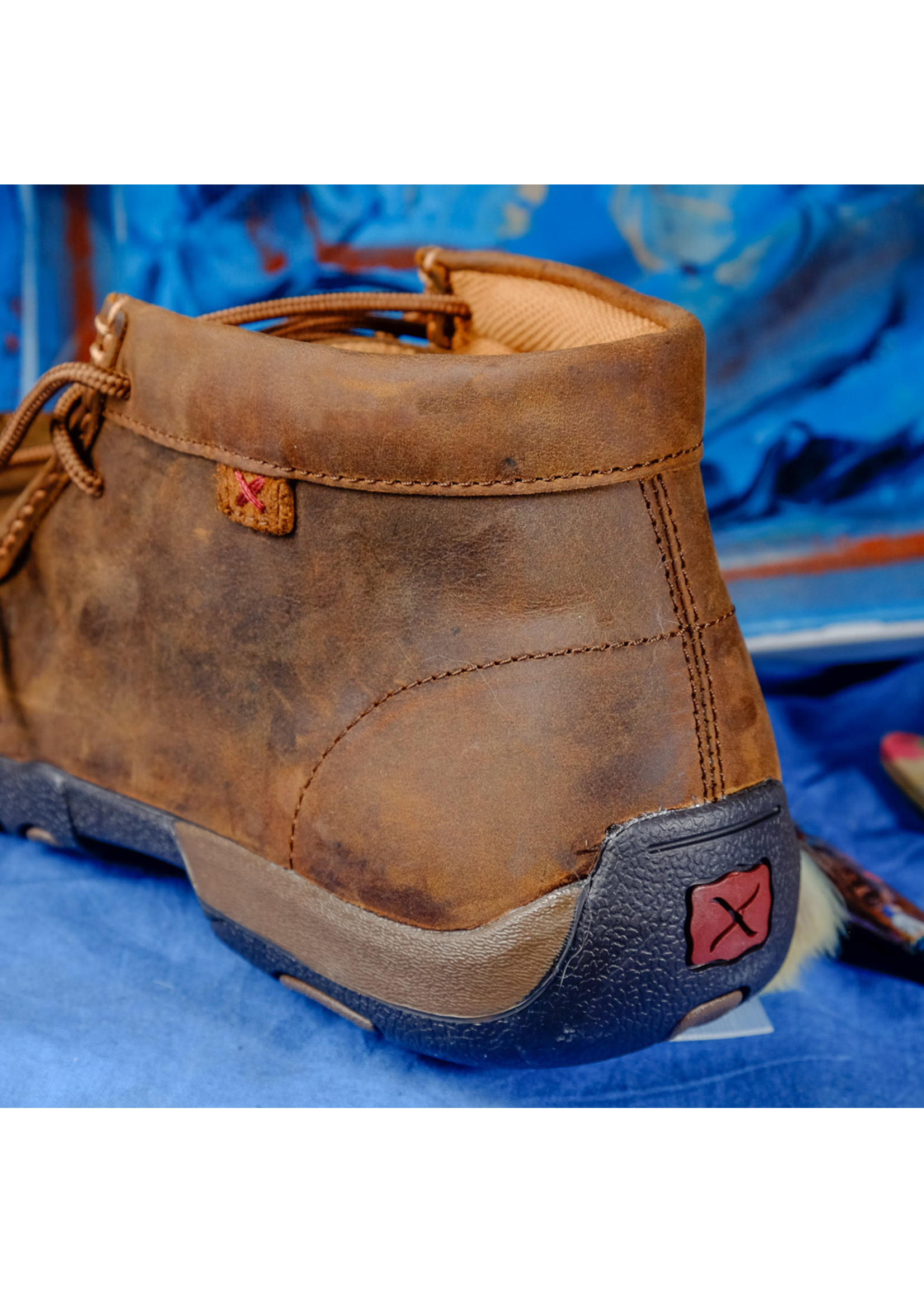 Twisted X Men's Distressed Saddle Steel Toe Driving Mocs  MDMST01
