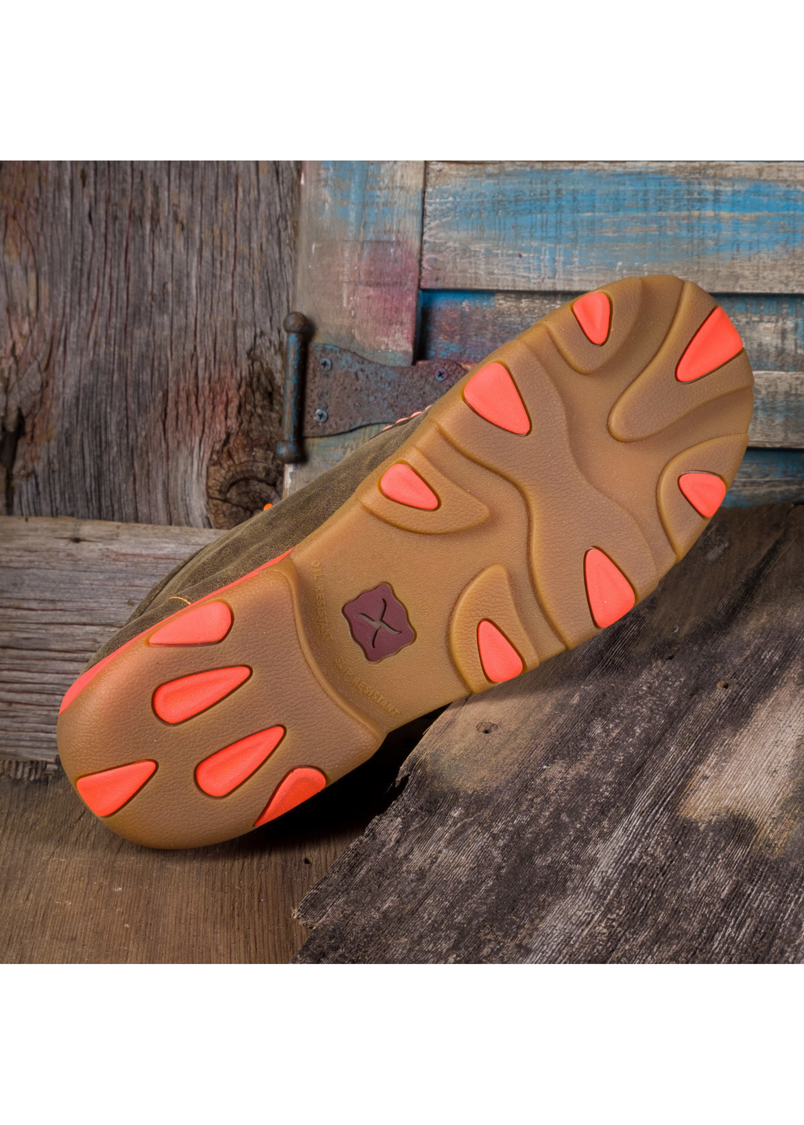 Twisted X Men's Driving Moccasins with Orange MDM0019