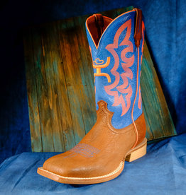 Twisted X Men's Hooey Cognac Bull Hide Neon Blue Boots