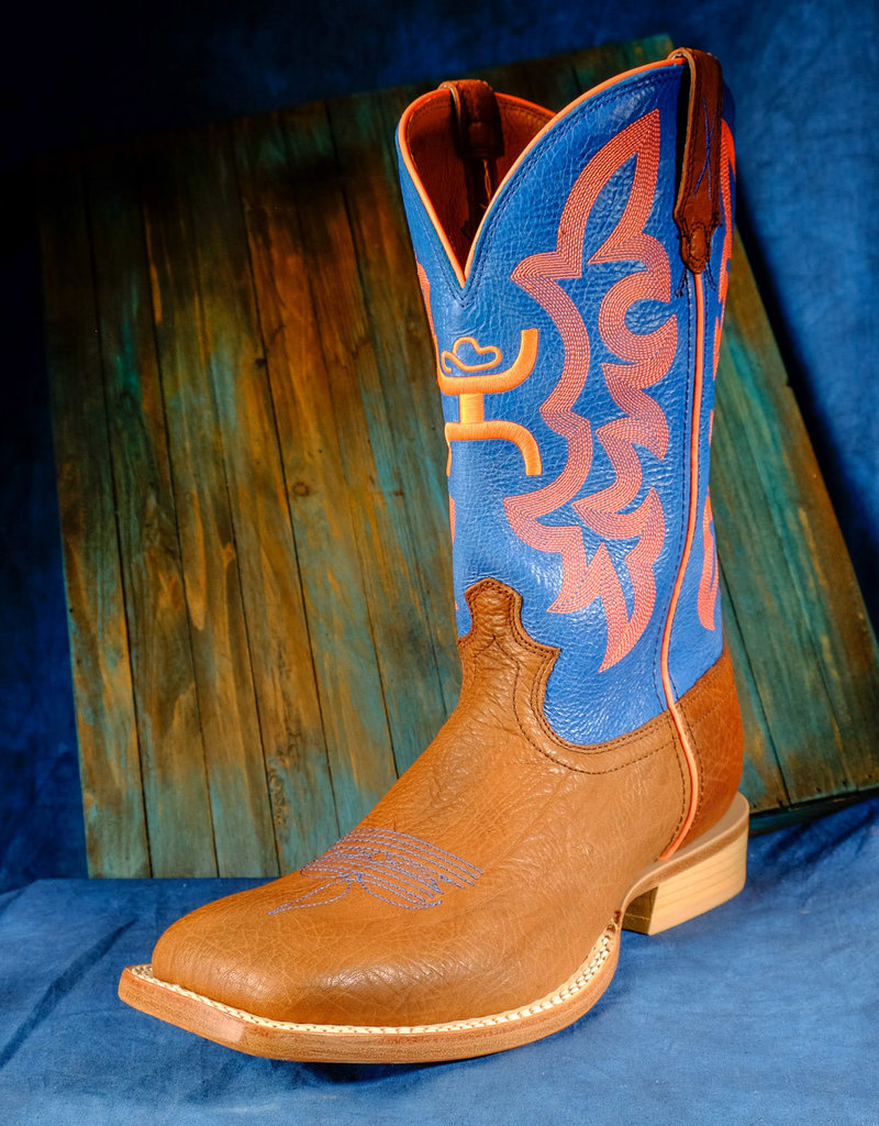 Twisted X Men's Hooey Boots Cognac Bull Hide/ Neon Blue MHY0004