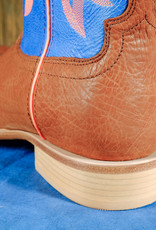 Twisted X Twisted X Men's Hooey Boots Cognac Bull Hide/ Neon Blue MHY0004