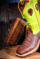 Twisted X Men's Lite Cowboy ST Workboot Crazy horse/Neon Yellow  MLCS018