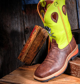 Twisted X Twisted X Men's Lite Cowboy ST Workboot Crazy horse/Neon Yellow