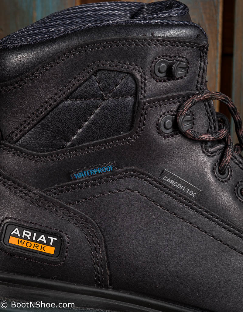 Ariat Men's Composite Toe Lace-up Black Waterproof Work Boots 10027337
