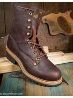 "Carolina Elm Men's 8"" Brown Steel Toe Logger"