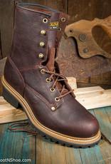 "Carolina Elm Men's 8"" Brown Steel Toe Logger 1821/9511"