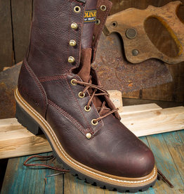 "Carolina Elm Men's 8"" Brown Steel Toe Logger"