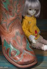 Laredo Ladies Aquarius Brown w/ Shimmer Blue Inlay Boot 5671