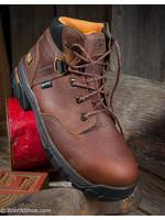 """Timberland Pro Helix Men's 6"""" Alloy Toe Brown Waterproof  Work Boot"""