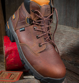 "Timberland Pro Helix Men's 6"" Alloy Toe Brown Waterproof  Work Boot"