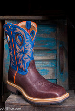 Twisted X Men's Steel Toe Orange/Blue Western Work Boot MSC0010