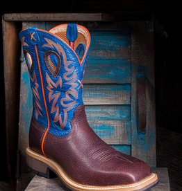 Twisted X Men's Steel Toe Orange/Blue Western Work Boot