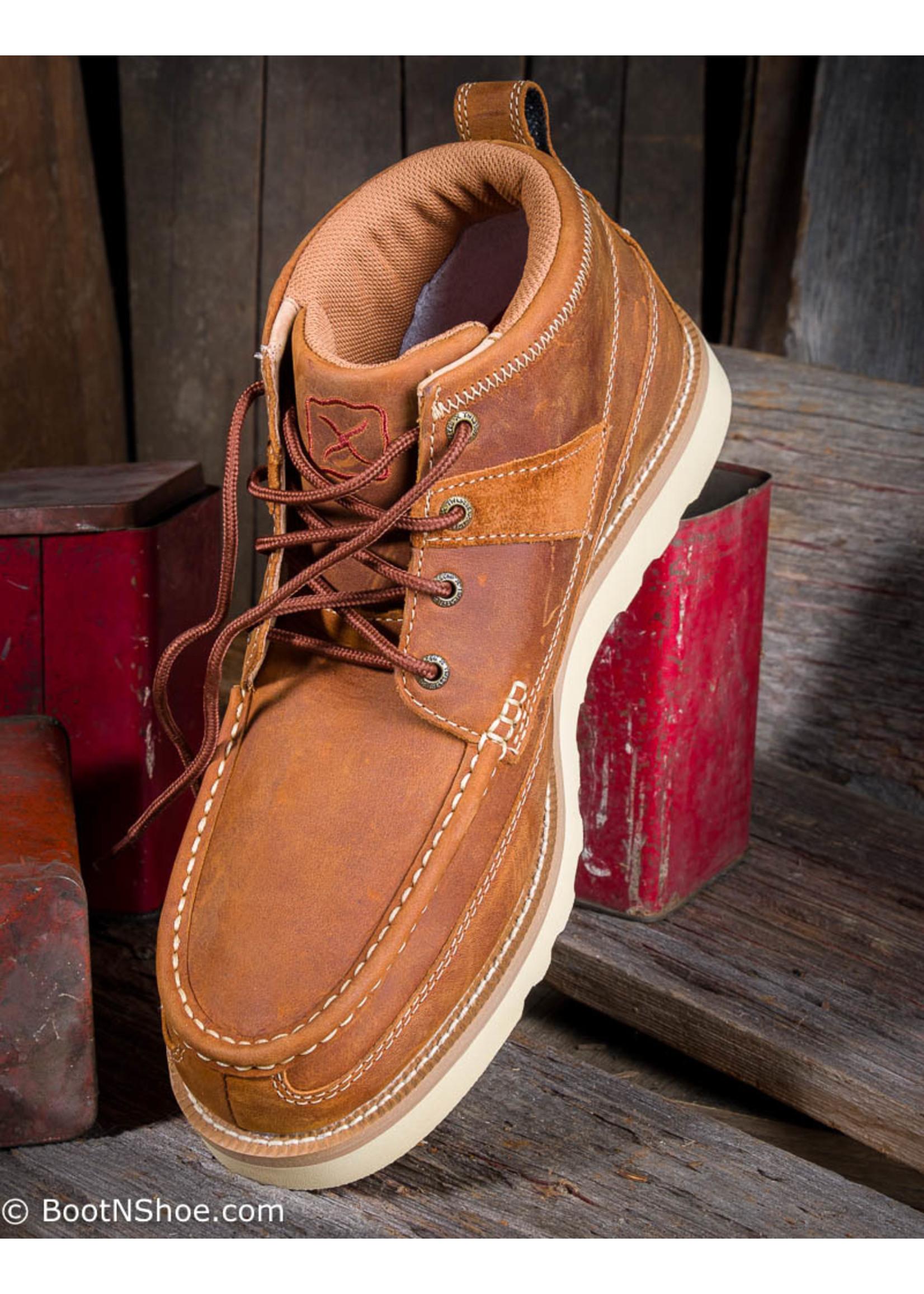 Twisted X Men's Casual Mock Toe Oiled Saddle Boot  MCA0007