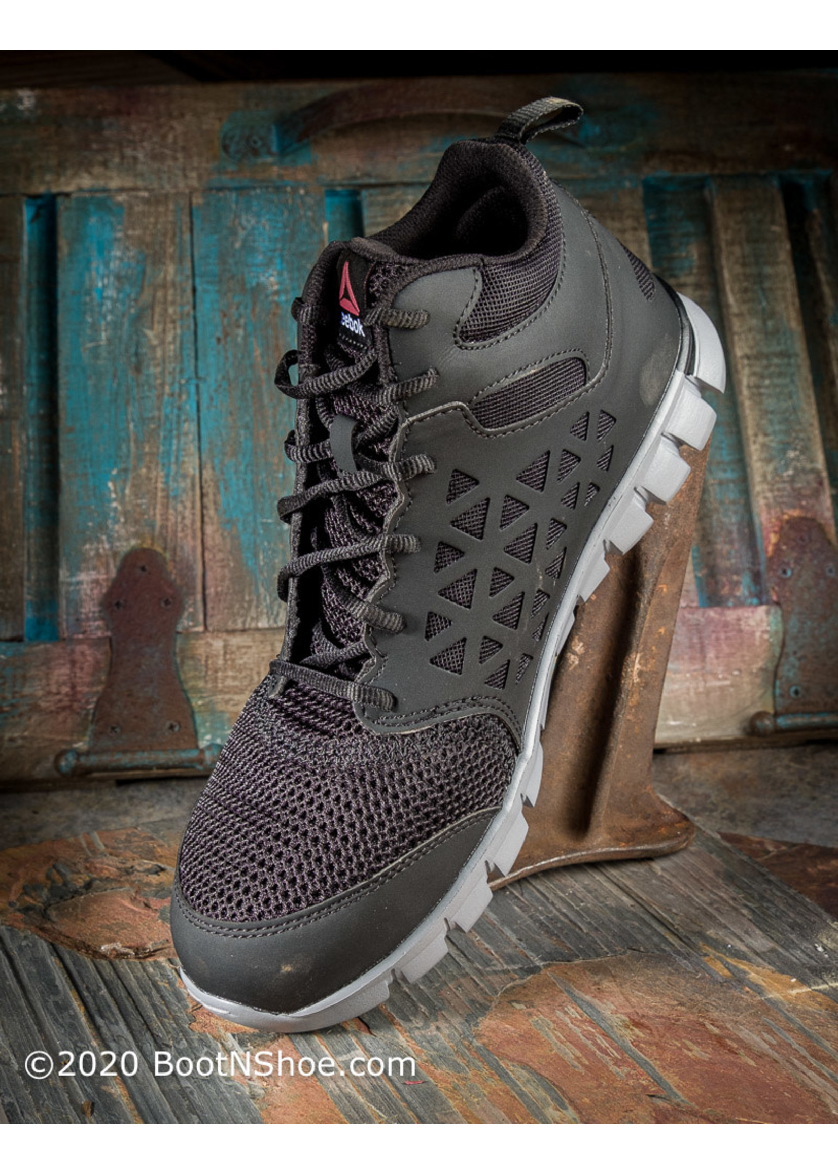 Reebok Men's Sublite Cushion Athletic Mid Cut Alloy Work Shoe RB4141