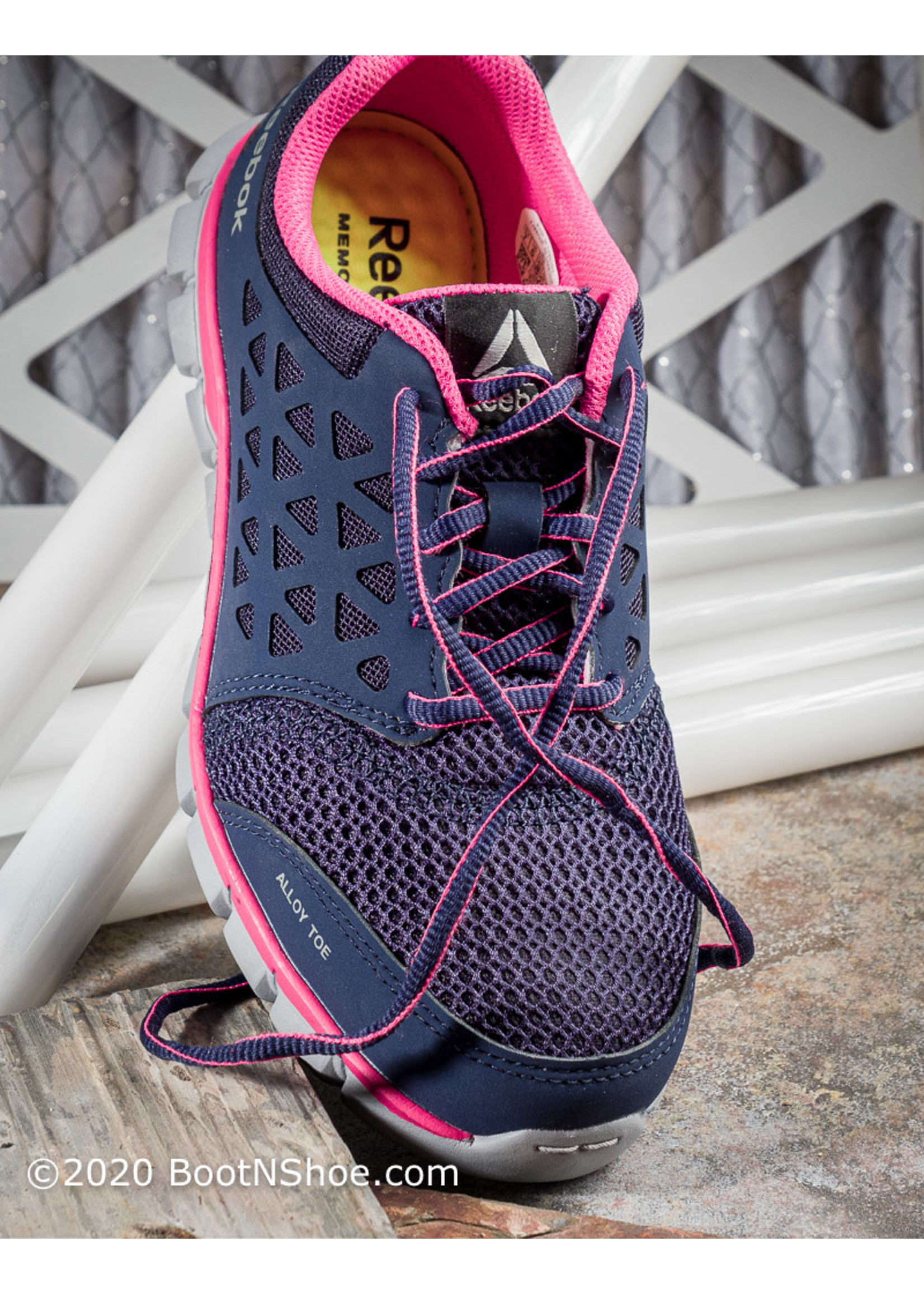 Reebok Women's Sublite Cushion Athletic Alloy Work Shoes RB046